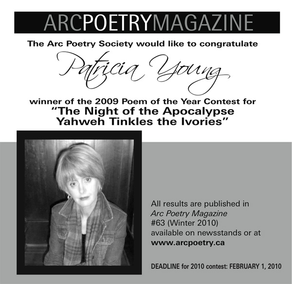 Arc Poetry Award announcement 2009